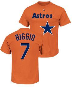 Craig Biggio Houston Astros Majestic Cooperstown Wordmark Name
