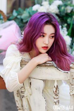 Just Loona, Choerry Kpop Girl Groups, Korean Girl Groups, Kpop Girls, Extended Play, Kpop Hair Color, Hair Colour, Loona Kim Lip, Eye Circles, Olivia Hye