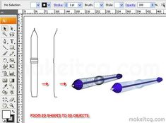 This tutorial will show you how to create 3d objects in Adobe Illustrator using Revolve.