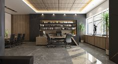 CEO Office Design and Visualization for a well-known company in Kuwait City
