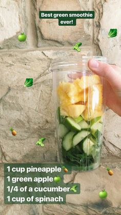 Green Smoothie Recipes For Weight Loss.Check Out These Superb Green Smoothies Re. - Green Smoothie Recipes For Weight Loss.Check Out These Superb Green Smoothies Recommendations - Smoothies Vegan, Good Smoothies, Easy Smoothie Recipes, Smoothie Diet, Spinach Smoothie Recipes, Cucumber Smoothie, Juicer Recipes, Cleansing Smoothies, Energy Smoothies
