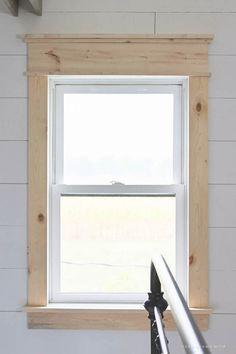 Modern farmhouse-4 / marco de madera para las ventanas