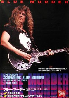 BLUE MURDER. 1993 Famous Guitars, Best Guitarist, Thin Lizzy, In Another Life, Guitar Players, Gibson Les Paul, Hair Bands, Beautiful Boys, Hard Rock
