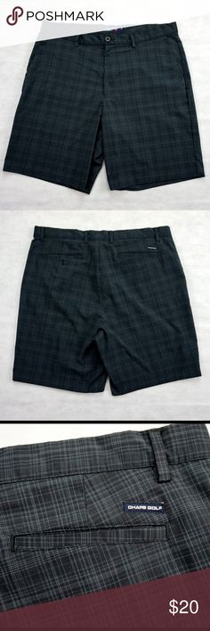 """Navy Chaps 78 Golf Shorts by Ralph Lauren size 38 Chaps 78 Navy Blue Men's Golf Shorts Size 38. These are very comfortable performance Shorts made from 95% Polyester & 5% Elastane. Measures (Measured Laying Flat on Table): Waist : 19"""" • Inseam: 12"""" inches • Length: 21"""" inches. 5 Star Feedback and all orders ship in 24 hours or less. If you have any questions please feel free to ask. Save 20% when bundling on orders of 3+ items. Thanks! Chaps Shorts Hybrids"""