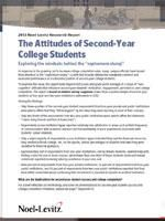 2013 Report: The Attitudes of Second-Year Students