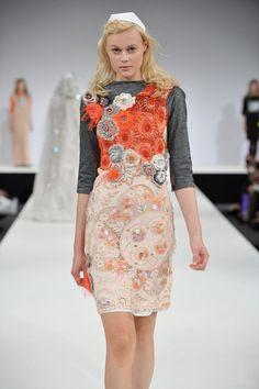 Sequin crochet multi-media dress by Alice Halliday