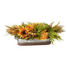 Faux Sunflower & Artichoke - Bring Home the Harvest on Joss & Main