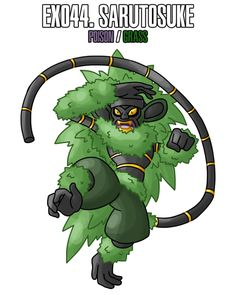 "Sarutosuke (the ""Master"" of the Legendary Ninja Trio) Poison / Grass Source. Artist: Masterthecreater"