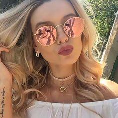 Luxury brand design - round retro sunglasses
