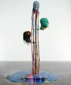 Marc Quinn - 1999: Internal Saline Evolution. Stainless steel, concrete and polyurathane 195h x 129w x 102d cms