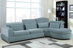 Oron Contemporary Gray Sectional Set 50230