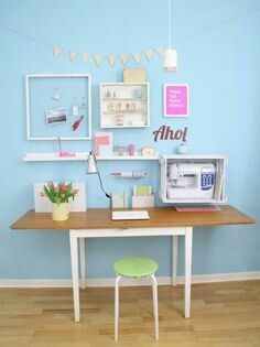 titatoni ♥ DIY : upcycling office on We Heart It Diy Home Decor, Room Decor, Ideas Para Organizar, Workspace Inspiration, Sewing Rooms, My Room, Office Decor, Office Ideas, Decoration