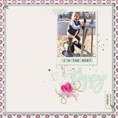 Layout using {Peppy} Digital Scrapbook Kit by Anita Designs available at The Digital Press http://shop.thedigitalpress.co/Peppy.html #anitadesigns