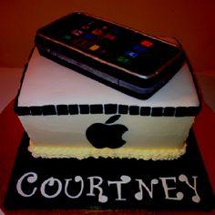 iPhone or iPad cake cool