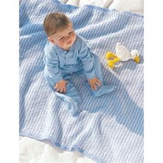 Favorite Blue/White Blanket in Bernat Softee Baby Solids. Discover more Patterns by Bernat at LoveKnitting. The world's largest range of knitting supplies - we stock patterns, yarn, needles and books from all of your favourite brands. Knitted Afghans, Knitted Baby Blankets, Baby Afghans, Baby Blanket Crochet, Crochet Baby, Free Crochet, Baby Shawl, Baby Cardigan, Baby Knitting Patterns
