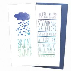 So cute! Perfect for any bridal show. #bridalshower #invites #invitations #stationery #showewr Shop: Your One and Only ---> http://www.youroneandonly.com.au/products/rainbow-bridal-shower
