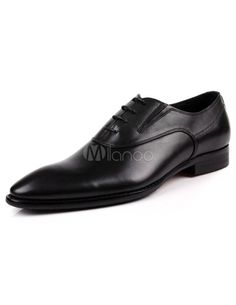 Wonderful Pointed Toe Cowhide Dress Shoes for Man - #Wedding #Shoes - http://www.theweddingshoes.com/wonderful-pointed-toe-cowhide-dress-shoes-for-man/