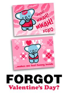 Forgot Valentine's Day? – Use This Free E-Card | Smiling Bear® cute kawaii