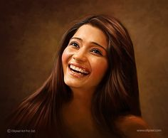 A digital portrait painting of a young lady created by Oilpixel. Contact us to help you create the most vivid digital portrait paintings for you and your family. Try us today. Painting Studio, Painting Gallery, Digital Portrait, Lady, Portrait Paintings, Portraits, Artwork, Create, Wallpapers