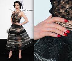 manicure and dress... you can never be overdressed
