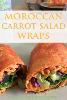#moroccaninspiredrecipes #moroccan #moroccanrecipes #easyrecipes #healthywraps #wrapsrecipes #moroccancarrotsalad