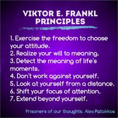 7 core principles of Viktor Frankl's work for bringing personal meaning and fulfillment to your everyday life and work. Man's Search For Meaning, Meaning Of Life, Viktor Frankl Quotes, Existential Therapy, Meant To Be Quotes, Change Quotes, Motivational Quotes, Inspirational Quotes, Positive Psychology