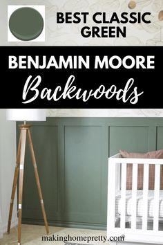 Nursery Paint Colors, Green Paint Colors, Paint Colors For Home, House Colors, Green Wall Color, Green Accent Walls, Accent Wall Colors, Green Rooms, Bedroom Green
