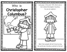 Columbus Day Reader for First Grade and Kindergarten students. It details Coumbus' famous voyage. 10 pages and includes blackline and color versions. $