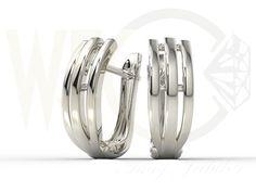 Kolczyki z białego złota / Whitegold earrings