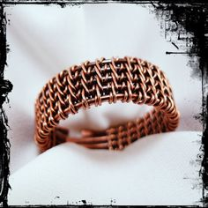 Rustic Woven Ring Men's Ring Thumb Ring Unisex Ring by TTJJewelry