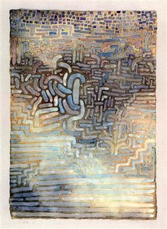 Paul Klee 'Schling Gewachse' (Climbing Plants) 1932 Watercolor 25.6 x 19.7""