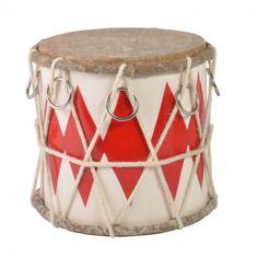 Petit tambour rouge et blanc