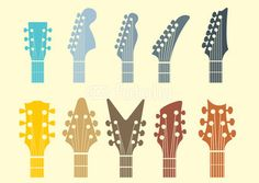 guitar headstock designs - Google Search