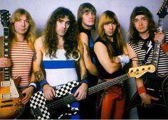 Znalezione obrazy dla zapytania iron maiden band members