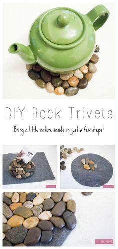 DIY River Rock Trivet   Craftaholics Anonymous®