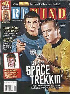 Remind Magazine November 2016 Star Trek David Bowie Space Movies Pinups NM