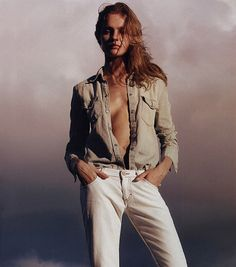 unpoly:  natalia vodianova for calvin klein jeans s/s 2003 by mario sorrenti
