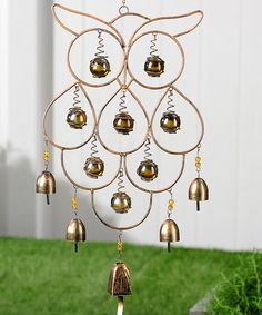 Love this Owl & Bell Wind Chime on #zulily! #zulilyfinds