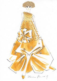 "illustration by  ""sketches by 628""   Christian Dior Haute"