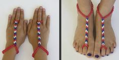 Rainbow Loom Advanced Barefoot Sandals Tutorial ♥ Have you made the Rainbow Loom basic barefoot sandals? If so, then you are ready for the advanced barefoot sandals from the National Rainbow Loom contest.