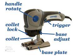 Dremel Trio Tutorial on use.  Pinned from blog:  http://www.prettyhandygirl.com/2012/01/tool-tutorial-friday-using-a-dremel-trio.html