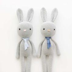 Mesmerizing Crochet an Amigurumi Rabbit Ideas. Lovely Crochet an Amigurumi Rabbit Ideas. Knitted Bunnies, Crochet Bunny Pattern, Crochet Rabbit, Crochet Patterns, Amigurumi Doll, Amigurumi Patterns, Crochet Dolls, Crochet Yarn, Crochet Christmas Trees