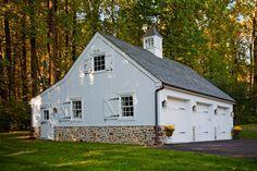 Colonial Farmhouse - traditional - garage and shed - philadelphia - Worthington Custom Builder Inc. Studio