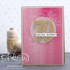 Geburtstagskarte - Global Design Project - Stampin' Up! - Birthday Card - Gold ❤️︎ Stempelwiese