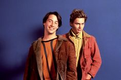 Keanu Reeves, River Phoenix, 1991   Essential Gay Themed Films To Watch, My Own Private Idaho http://gay-themed-films.com/watch-my-own-private-idaho/