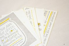 Wedding invitations designed by Brandon Kirk and Jacob Gerber
