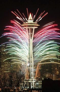 Seattle - Space Needle (New Years Eve)