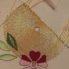 Japanese Embroidery Designs Or Nue - Zardozi Embroidery, Bead Embroidery Patterns, Tambour Embroidery, Hand Work Embroidery, Couture Embroidery, Gold Embroidery, Japanese Embroidery, Hand Embroidery Stitches, Embroidery Fashion