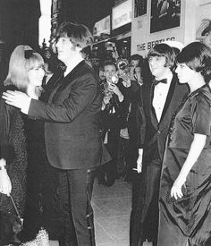 pinterest beatles george and john and wives | ... John and Cynthia. I love how her head is on John's shoulders/chest