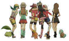 pokemon. The female trainers